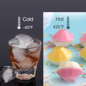 New 4 Cavity Diamond Shape 3D Ice Cube Mold Maker Bar Party Silicone Trays Chocolate Mold Kitchen Tool, a Great Gift pictures & photos