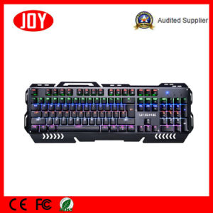 Aluminum Alloy Plate Mechanical Keyboard Gamer Key Board pictures & photos