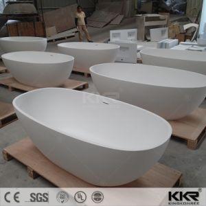 Modern Design Stone Resin Whirlpool Bathtub for Sale pictures & photos