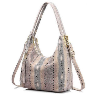Hot Design Snake Skin Patern Leather Bags Women Handbags with Tassel From China Suppliers Wholesale Emg5217 pictures & photos