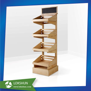 Modern Retail Shop Wood 4 Shelves Display pictures & photos