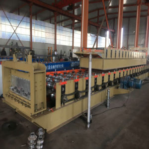 Hot Sale Metal Cold Deck Sheet Roll Forming Machine with Pressing Device pictures & photos