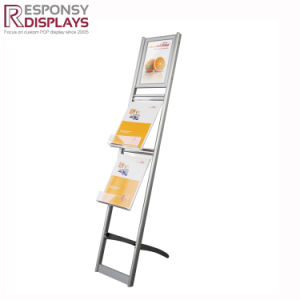 Hot Sale Customized 3-Tier Metal Floor Magazine Display Stand Newspapaer Display pictures & photos