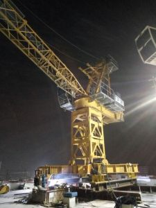 ISO Qualified 50m Jib Length Tip Load 2.2ton Max Capacity 6ton Topkit Tower Crane for Construction Building