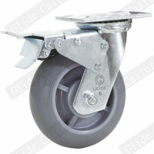 Heavy Duty TPR Swivel Caster (Gray) (G4307D) pictures & photos