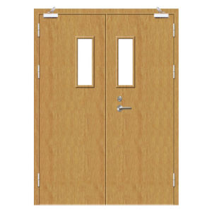 Solid Wooden Fire Rated Natural Wood Veneer Doors pictures & photos
