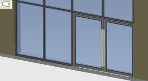 Double Glazing Thermal Broken Aluminum Storefront Door pictures & photos