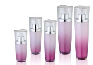 30ml, 50ml, 80ml Lotus Leaf Series Cosmetic Acrylic Lotion Bottle pictures & photos