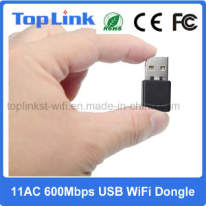Top-4503AC 600Mbps 802.11AC Dual Band USB Wireless WiFi Network Card for Android TV Box pictures & photos
