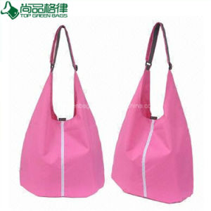 Fashion Reusable Polyester Shoulder Tote Bag (TP-TB057) pictures & photos
