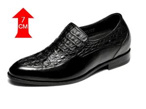 CF Italian Handmade Craft Custom Elevator Crocodile Leather Shoes, Alligator Dress Shoes