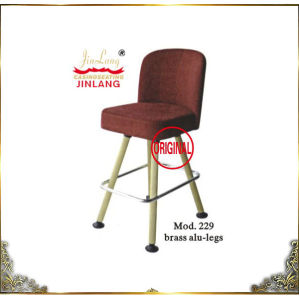 Casino Chair Red Color Brass Frame (Mod. 229)