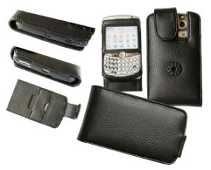 Mobile Phone Leather Case for Blackberry 8300