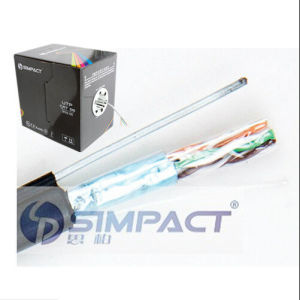 Water Proof FTP Cat5e with Drop Wire Outdoor Network Cable-Simpact pictures & photos