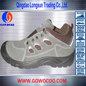 Suede Stitching Leather Steel Toe Safety Shoes