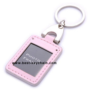 Promotion PU Photo Frame Leather Keychain (BK21038) pictures & photos