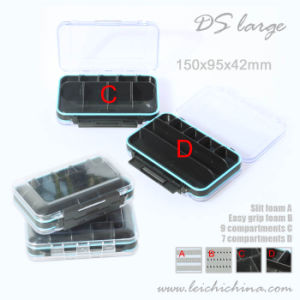 Double Side Clear Waterproof Tube Plastic Fly Fishing Box pictures & photos