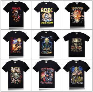 Wholesale Man Spring 2014 Clothing Multi-Color T Shirt Metallic Rock Band Tee Shirt T-Shirts Printed Tshirt Men 3D T-Shirt