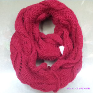 Ladies Winter Fashion Acrylic Knitted Scarf (CYX-1422)