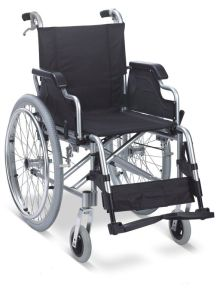 Aluminum Manual Folding Wheelchair with Handle Brake and Flip up Armrest and Detachable Footrest pictures & photos