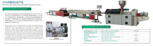PVC Doule-Pipe Extruding Production Line