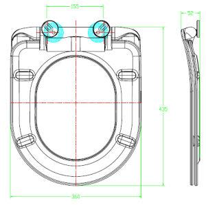 D Shape Urea Quick Release Wc Toilet Cover pictures & photos