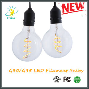 UL Listed 120V Dimming 4W G95 G30 Filament LED Edison Bulb pictures & photos