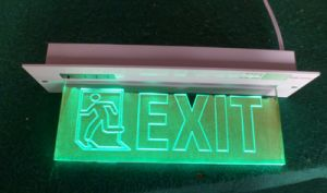 LED Fire Emergency Exit Sign Light (QH5984)