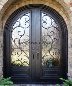 Factory Wholesale Wrought Iron Entry Doors pictures & photos