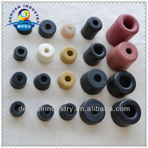 Rubber stopper for glass shower door