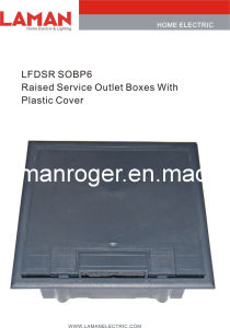LFDSR SOBP6 Raised Service Outlet Boxes With Plastic Cover