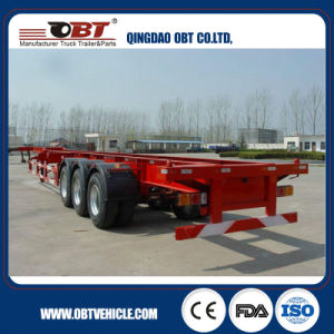 Obt Brand Hot Sale 40 FT 3 Fuwa Axle Skeleton Trailer pictures & photos