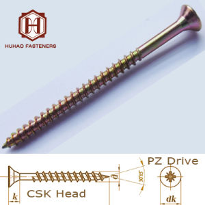 Screw/Pozi Drive Zinc Plated Wood Screw pictures & photos