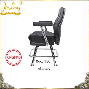 Casino Chair Mod. 950 Chrome Frame, Black Leather