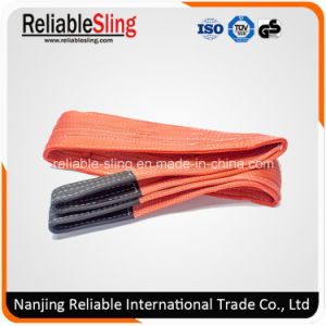 100% Polyester Eye & Eye Double Ply Flat Crane Webbing Sling for Lifting pictures & photos