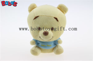 "4""Mini Plush Baby Pooh Bear Keychain with Blue T-Shirt Bos1097 pictures & photos"