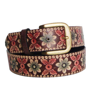 Flower Patten Classic Fashion PU Belt (KY1527) pictures & photos