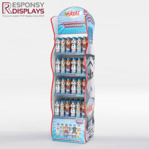 Eye Catching Floor Beverage Display Rack for Supermarket pictures & photos