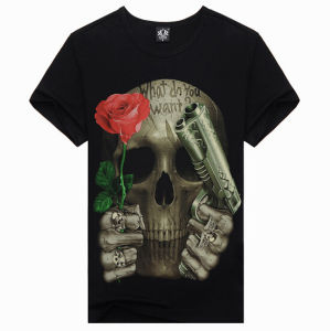 Cheap 3D Print Fashion Personalized Men Short Sleeve Tee Shirt pictures & photos