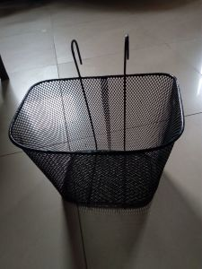 Black Plastic Basket Used on Bicycle pictures & photos