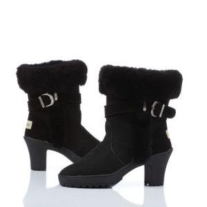 2015 Warm Women High Heel Sheepskin