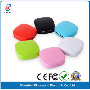 6000mAh Portable Cellphone Battery Charger with Custom Printing