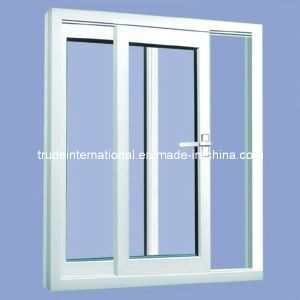 PVC Sliding/Casement Single/Double Tempered Glass Window pictures & photos