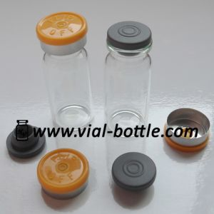 20mm Light Orange Flip off Tops, 20mm Gray Rubber Stoppers and 10ml Glass Injection Vials pictures & photos
