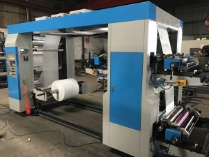 4 Colors Flexographic Helical Gear Paper Roll Printing Machine (NX-A41000) pictures & photos