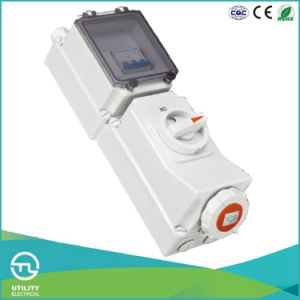 IP67 Female Socket with Interlock & Switch & DIN Installation Rail pictures & photos