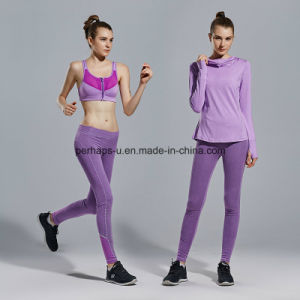 Women Yoga Clothing Three-Piece Long-Sleeved Fitness Suit pictures & photos