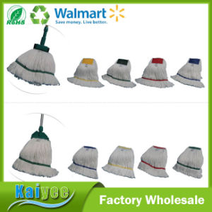 Long Handle Floor Cleaning Cotton Mop Yarn pictures & photos