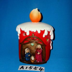 LED Lighted Resin Nativity Set with Silent Night Song pictures & photos