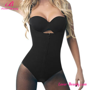 Extraordinary Black Strapped Zipper 6 Steel Boned Butt Lifter Shapewear pictures & photos